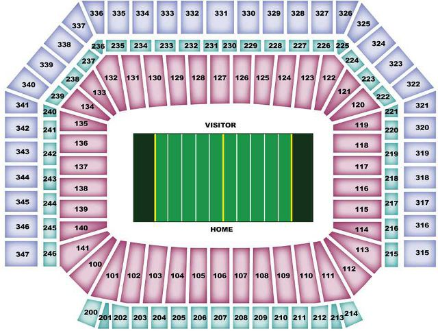 Detroit Lions Seating Chart For Ford Field